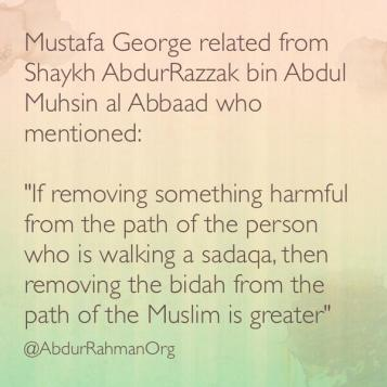 If removing something harmful from the path of the person who is walking a sadaqa