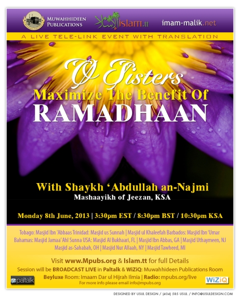 O Sisters Maximize The Benefit Of Ramadhaan by Shaykh Abdullah an-Najmi