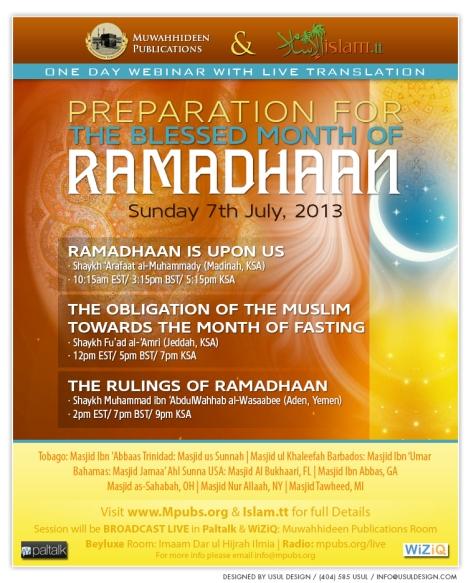 Ramadhaan Is Upon Us - Shaykh Arafat al-Muhammady
