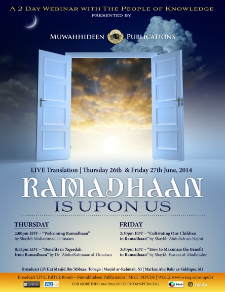 Ramadhan is upon us